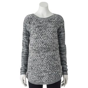 NWT It's Our Time Juniors' Boatneck Tunic Sweater